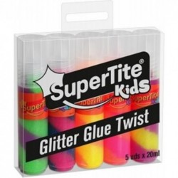 GLITTER GLUE TWIST 5udsx20ml