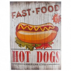 FAST FOOD HOT DOGS CUADRO...